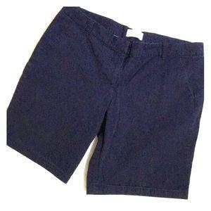 J Crew Navy Bermuda Shorts size 12